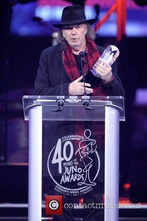 Neil Young  JUNO Gala Dinner and Awards Show Toronto, Canada - 26.03.11