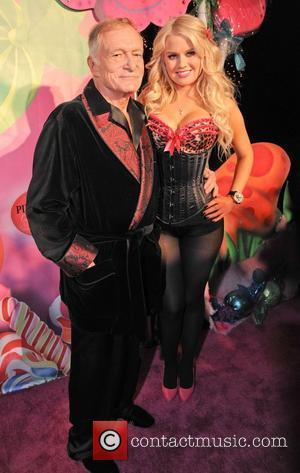 Hugh Hefner and Sophia Berglund The 6th Annual Kandyland Party at the Playboy Mansion Beverly Hills Los Angeles, California -...