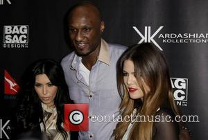 Kim Kardashian, Lamar Odom and Khloe Kardashian The launch of Kardashian Kollection handbags at Hugo's Lounge - Arrivals Sydney, Australia...