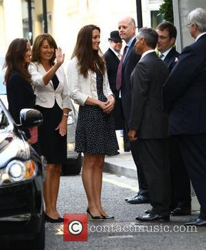 Pippa Middleton, Carole Middleton, Kate Middleton The Middleton family arriving at The Goring Hotel in central London. London, England -...