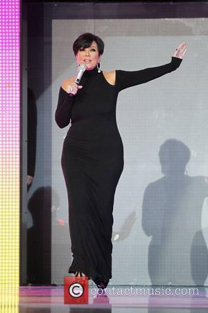 Kris Jenner  Kim Kardashian and Kris Jenner appear on a catwalk in the middle of the Dubai Mall, the...