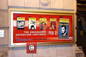 John Leguizamo poster on the opening night for the Broadway premiere of 'Ghetto Klown' at the Lyceum Theatre - Curtain...