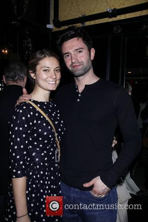 Spencer Grammer and her husband James Hesketh After party celebrating the final performance of Kelsey Grammer and Douglas Hodge in...