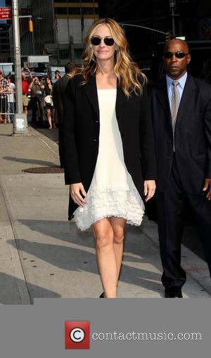 Julia Roberts 'The Late Show with David Letterman' at the Ed Sullivan Theater - Arrivals New York City, USA -...