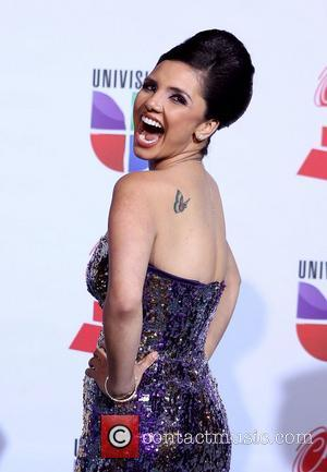 Karen Hoyos  2011 Latin Grammy's at Mandalay Bay Resort and Casino Las Vegas - Arrivals Las Vegas, Nevada -...