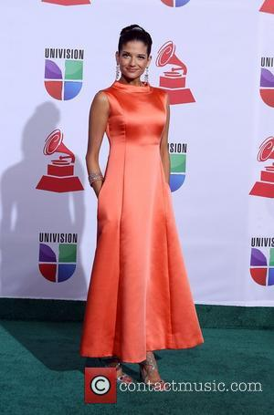 Natalie Jimenez  2011 Latin Grammy's at Mandalay Bay Resort and Casino Las Vegas - Arrivals Las Vegas, Nevada -...