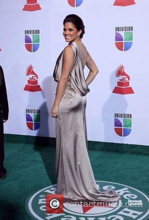 Pamela Silva Conde  2011 Latin Grammy's at Mandalay Bay Resort and Casino Las Vegas - Arrivals Las Vegas, Nevada...