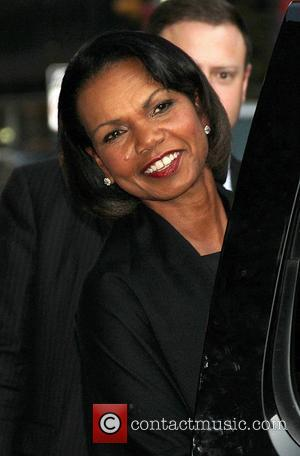 Former US Secretary of State Dr. Condoleezza Rice at the Ed Sullivan Theater for the 'Late Show With David Letterman'...
