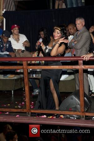 Lil Kim Lil Kim and Amanda Lepore perform together at Club 57 at Providence New York City, USA - 11.06.11...