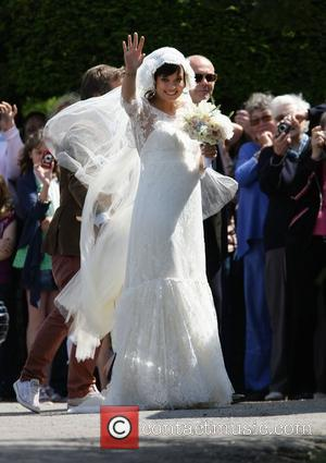 Lily Allen arriving for her wedding to Sam Cooper Cranham, Gloucestershire - 11.06.11