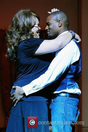 Calandra Glenn and Tyson Beckford  Theo London's inspirational staged play 'Loving Him is Killing Me' at James L. Knight...
