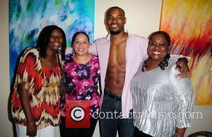 Lisa Brathwaite, Tyson Beckford and fans posing  Theo London's inspirational staged play 'Loving Him is Killing Me' at James...