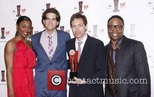 Patina Miller, Alex Timbers, J. Michael Friedman and Billy Porter The 26th Annual Lucille Lortel Awards held at NYU Skirball...