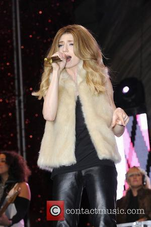 Nicola Roberts performing live at the Manchester City Centre Christmas lights switch on. Manchester, England - 10.11.11
