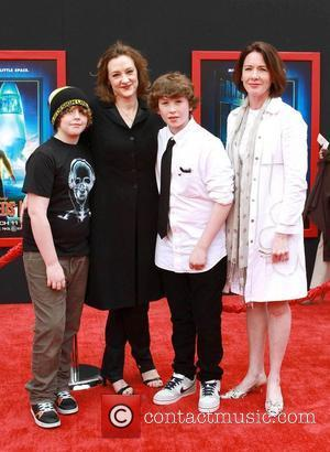 Joan Cusack (2nd L) and Ann Cusack at the Los Angeles premiere of 'Mars Needs Moms 3D' at the El...