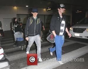 Katie McGrath, Colin Morgan and Bradley James The stars of international smash hit BBC television show Merlin arrive at LAX...