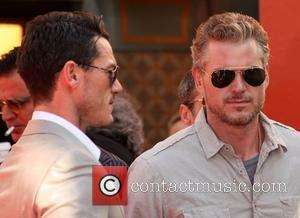 Luke Evans and Eric Dane at the Hand and Footprint Ceremony outside Grauman's Chinese Theatre Los Angeles, California - 31.10.11