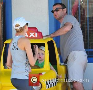 Naomi Watts and her boyfriend Liev Schreiber and their children Sasha and Sammy on a day out near the Pacific...
