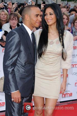 Lewis Hamilton and Nicole Scherzinger National Movie Awards held at the Wembley Arena - Arrivals.  London, England - 11.05.11