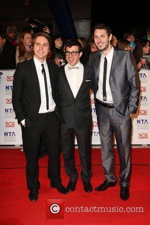 Joe Thomas, Simon Bird and Blake Harrison The National Television Awards 2011 (NTA's) held at the O2 centre - Arrivals...