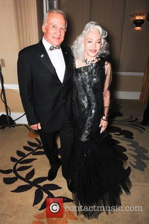 Buzz Aldrin and Lois Driggs Cannon  The Norby Walters 21st Night of 100 Stars Awards Gala held at Beverly...
