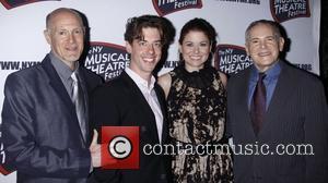 Neil Meron, Christian Borle, Debra Messing and Craig Zadan  The New York Musical Theatre Festival's Eighth Season Awards Gala...