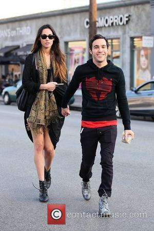 Meagan Camper and Pete Wentz Pete Wentz with his new model girlfriend as they arrive at Joan's on Third for...
