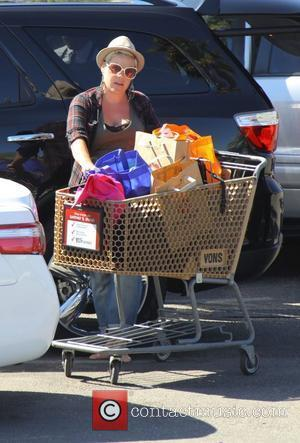 Pink aka Alecia Moore shopping in the easter sale at Vons Grocery store in Malibu. Los angeles, California - 26.04.11