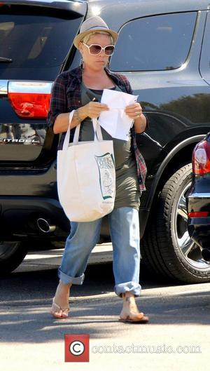 Heavily pregnant Pink aka Alecia Moore shopping in the easter sale at Vons Grocery store in Malibu. Los angeles, California...