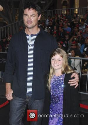 Karl Urban and his daughter 'Pirates Of The Caribbean: On Stranger Tides' World Premiere held at Disneyland Anaheim, California -...