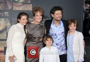 Andy Serkis and his family The premiere of 20th Century Fox's 'Rise Of The Planet Of The Apes' held at...