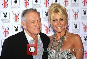 Hugh Hefner with fiancee Crystal Harris (Centre R) Playboy Club London Gala Opening Event held at the Playboy Club in...