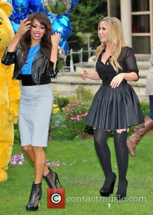 Jade Ewan and Heidi Range of the Sugababes Pop Goes The Musical - press launch held at The Roof Gardens....