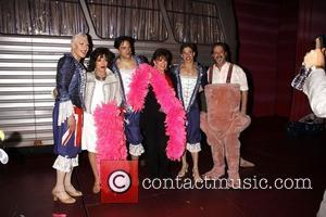 Tony Sheldon, Joan Collins, Will Swenson, Jackie Collins, Nick Adams and C. David Johnson  Real Divas meet Broadway Divas...