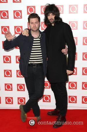 Tom Meighan and Sergio Pizzorno of Kasabian The Q Awards 2011 held at Grosvenor House hotel - Arrivals London, England...