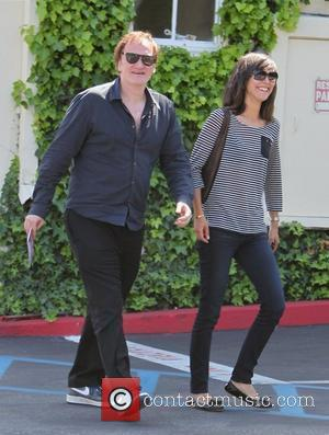 Quentin Tarantino and a friend have lunch at Cafe Med restaurant on Sunset Plaza Los Angeles, California - 30.04.11