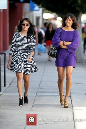 LaLa Vazquez and Kelly Rowland filming a reality show segment at Cuvee on Robertson Boulevard Los Angeles, California - 16.03.11