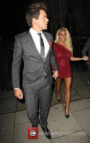 Katie Price and Leandro Penna,  at the Terrence Higgins Trust Gala dinner held at the Royal Courts of Justice....