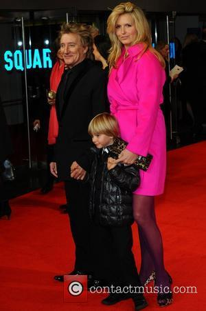 Rod Stewart, Penny Lancaster and Alastair Wallace Stewart Royal Film Performance 2011: Hugo in 3D at Odeon Leicester Square -...