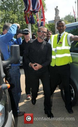 George Michael Celebrities seen filming during preparations for the Royal Wedding of Prince William and Kate Middleton in central London....