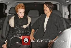 Anthony Kiedis leaving with Beth Jeans Houghton, a 21 year old singer-songwriter Red Hot Chili Peppers band members leaving Scotts...