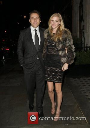 David Walliams and Lara Stone arriving at Scotts restaurant in Mayfair. London, England - 11.02.11