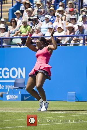 Serena Williams Aegon International Tennis Tournament in Eastbourne - Serena Williams v Tsvetana Pironkova - Williams won 1-6, 6-3, 6-4...