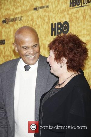 Harry Belafonte and Susanne Rostock  Premiere of the HBO documentary 'Harry Belafonte Sing Your Song' at the Apollo Theater...