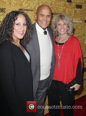 Gina Belafonte, Harry Belafonte and Pamela Belafonte Premiere of the HBO documentary 'Harry Belafonte Sing Your Song' at the Apollo...