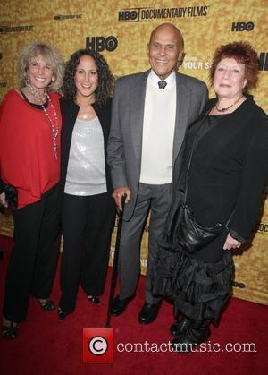 Pamela Belafonte, Gina Belafonte, Harry Belafonte and Susanne Rostock Premiere of the HBO documentary 'Harry Belafonte Sing Your Song' at...