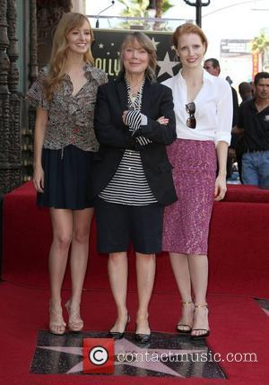 Ahna O'Reilly, Sissy Spacek and Jessica Chastain Sissy Spacek receives a star on the Hollywood Walk of Fame, held on...