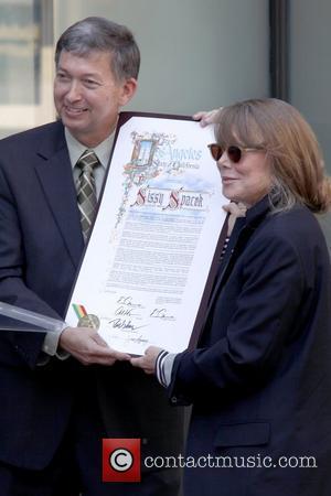 Leron Gubler, Sissy Spacek Sissy Spacek receives a star on the Hollywood Walk of Fame, held on Hollywood Boulevard Los...