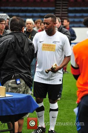 Ortise Williams of JLS The Celebrity Soccer Six tournament held at Turf Moor stadium Burnley, England - 05.06.11