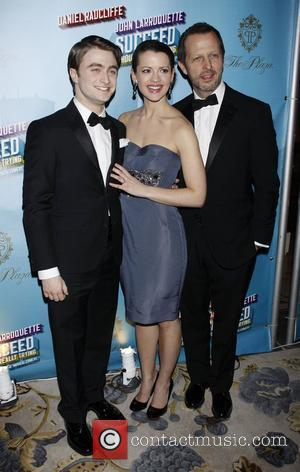 Daniel Radcliffe, Rose Hemingway and Rob Ashford Opening Night after party for the Broadway musical production of 'How To Succeed...